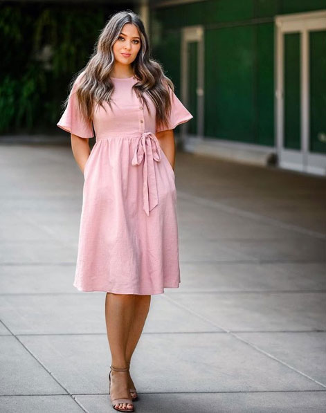 High waist Easter dress