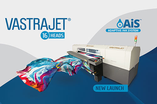 Colorjet to Launch 16 Head Vastrajet Digital Textile Printer with AiS at ITMA 2019